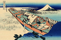 0606330 © Granger - Historical Picture ArchiveJAPAN.   ?ÇÿUshibori in Hitachi Province?ÇÖ?Çöone of a woodblock print series by Katsushika Hokusai titled ?Çÿ36 Views of Mount Fuji?ÇÖ.. Full credit: Pictures from History / Granger, NYC -- All rights reserved.