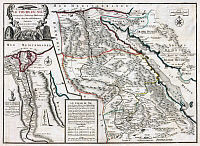 0607740 © Granger - Historical Picture ArchiveNORTHEAST AFRICA.    Map of the Nile from its source in Abyssinia to the Mediterranean, Nicolas de Fer (1720). Full credit: Pictures from History / Granger, NYC -- All rights reserved.