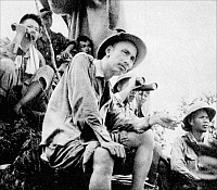 0607825 © Granger - Historical Picture ArchiveVIETNAM.   Ho Chi Minh at a military command post in northern Tonkin during the First Indochina War (1946-1954). Full credit: Pictures from History / Granger, NYC -- All rights reserved.