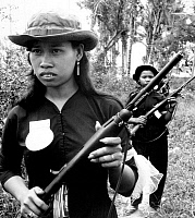 0608229 © Granger - Historical Picture ArchiveVIETNAM.   Female volunteers of the (South Vietnamese) People's Self-Defense Force of Kien Dien, Ben Cat District, 50 km north of Saigon, 1960. Full credit: Pictures from History / Granger, NYC -- All rights reserved.