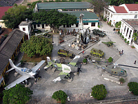 0608492 © Granger - Historical Picture ArchiveVIETNAM.   The rear court of the Army Museum, Hanoi, seen from above, centred on a pyramid of wreckage of shot down planes including parts of a USAF B-52, an F-111 and a French transport plane. Full credit: Pictures from History / Granger, NYC -- All rights reserved.