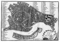 0609581 © Granger - Historical Picture ArchiveITALY / VENICE.   A map of Venice published by J. Stockdale, London, 1800. Full credit: Pictures from History / Granger, NYC -- All rights reserved.