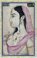0609594 © Granger - Historical Picture ArchiveINDIA.   Lal Kunwar, favourite of the 8th Mughal Emperor Jahandar Shah (died 1125 AH/AD 1713), 18th century Mughal miniature. Full credit: Pictures from History / Granger, NYC -- All rights reserved.