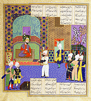 0610169 © Granger - Historical Picture ArchiveIRAN / PERSIA.   An illustration from the Shahnameh of Firdausi dedicated to Shah Tahmasp, second king of the Safavid Dynasty.. Full credit: Pictures from History / Granger, NYC -- All rights reserved.