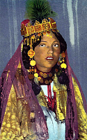 0610560 © Granger - Historical Picture ArchiveALGERIA.   A young woman of the Ouled Nail, photographed by Lehnert and Landrock, c. 1930. Full credit: Pictures from History / Granger, NYC -- All rights reserved.