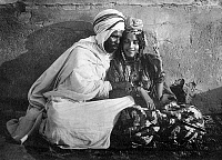 0610711 © Granger - Historical Picture ArchiveTUNISIA / ALGERIA.   A young Ouled Nail couple photographed by Lehnert and Landrock, c. 1930. Full credit: Pictures from History / Granger, NYC -- All rights reserved.