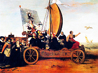 0611377 © Granger - Historical Picture ArchiveNETHERLANDS / HOLLAND.   'Wagon of Fools' by Hendrik Gerritsz Pot, 1637. A satirical comment on the Tulip  Mania craze sweeping Holland in the 1630s. Full credit: Pictures from History / Granger, NYC -- All rights reserved.