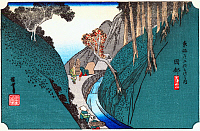 0612544 © Granger - Historical Picture ArchiveFIFTY-THREE STATIONS, 1834.  Okabe. Station 21 of the of 'The Fifty-three Stations of the Tokaido' (Hoeido edition) by Utagawa Hiroshige, 1833-1834. Full Credit: Pictures from History - CPA / Granger, NYC. All Rights Reserved.