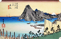 0612553 © Granger - Historical Picture ArchiveFIFTY-THREE STATIONS, 1834.  Maisaka. Station 30 of the of 'The Fifty-three Stations of the Tokaido' (Hoeido edition) by Utagawa Hiroshige, 1833-1834. Full Credit: Pictures from History - CPA / Granger, NYC. All Rights Reserved.