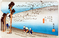 0612556 © Granger - Historical Picture ArchiveFIFTY-THREE STATIONS, 1834.  Futagawa. Station 33 of the of 'The Fifty-three Stations of the Tokaido' (Hoeido edition) by Utagawa Hiroshige, 1833-1834. Full Credit: Pictures from History - CPA / Granger, NYC. All Rights Reserved.