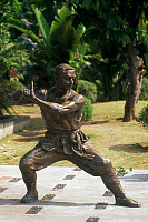 0612833 © Granger - Historical Picture ArchiveCHINA.   Martial Arts statue, Foshan, Guangdong Province. Full credit: Pictures from History / Granger, NYC -- All rights reserved.