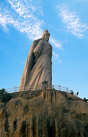 0612923 © Granger - Historical Picture ArchiveCHINA.   The giant statue of Koxinga (Chinese military leader, famous for his fight against the Manchu conquest of China), Gulangyu Island, Xiamen, Fujian Province. Full credit: Pictures from History / Granger, NYC -- All rights reserved.