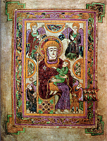 0613196 © Granger - Historical Picture ArchiveIRELAND / SCOTLAND.   The Virgin and Child. Fol. 7 V. The Book of Kells, c. 800 CE. Full credit: Pictures from History / Granger, NYC -- All rights reserved.