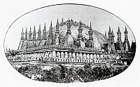 0613477 © Granger - Historical Picture ArchiveLAOS.   Pha That Luang with its spire torn off by rampaging Chin Haw freebooters (known as Black Flags) in 1874, Vientiane . Full credit: Pictures from History / Granger, NYC -- All rights reserved.