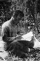 0613489 © Granger - Historical Picture ArchiveLAOS.   Prince Souphanouvong (1909-1995). Laos' 'Red Prince', pro-communist supporter of Ho Chi Minh. Here in the field during the liberation struggle when he fought with the Pathet Lao. Later he was Presiident of the Lao People's Democratic Republic from 1975 to 1991. Full credit: Pictures from History / Granger, NYC -- All rights reserved.