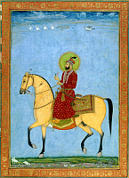 0613570 © Granger - Historical Picture ArchiveINDIA.   The 9th Mughal Emperor Farrukhsiyar (r. 1713 ?Çô 19) on horseback. Full credit: Pictures from History / Granger, NYC -- All rights reserved.
