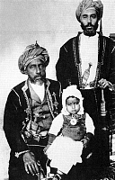 0614123 © Granger - Historical Picture ArchiveOMAN.   Sultan Faisal bin Turki (r. 1888-1913) with his son Taimur bin Faisal and his grandson, Said bin Taimur c. 1913. Full credit: Pictures from History / Granger, NYC -- All rights reserved.