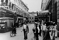 0614478 © Granger - Historical Picture ArchiveCHINA.   Shanghai's Blood Alley, officially known as Rue Chu Pao-san, was a street notorious for its bars and prostitutes frequented by foreign sailors and soldiers leading up to and during the Sino-Japanese War (1937-1945). Full credit: Pictures from History / Granger, NYC -- All rights reserved.