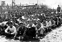 0615590 © Granger - Historical Picture ArchiveKOREA.   Chinese and North Koreans at the United Nations Pusan Prisoner of War Camp, April 1951. Full credit: Pictures from History / Granger, NYC -- All rights reserved.