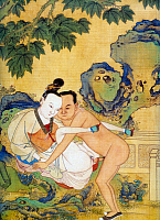 0616026 © Granger - Historical Picture ArchiveCHINA.   Erotic painting by the Ming Dynasty painter Qiu Ying (c.1494-1552). Full credit: Pictures from History / Granger, NYC -- All rights reserved.