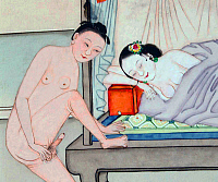 0616040 © Granger - Historical Picture ArchiveCHINA: EROTICA.   Chun hua erotic 'Spring Picture', Qing Dynasty, 19th century, artist unknown. Full Credit: Pictures from History - CPA / Granger, NYC. All Rights Reserved.