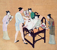 0616066 &copy; Granger - Historical Picture ArchiveCHINA.   <i>chun hua</i> erotic 'Spring Picture', Ming Dynasty, 16th century, artist unknown. Full credit: Pictures from History / Granger, NYC -- All rights reserved.
