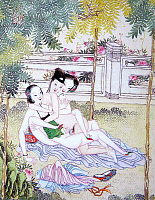 0616117 &copy; Granger - Historical Picture ArchiveCHINA.   <i>chun hua</i> erotic 'Spring Picture', Qing Dynasty, c.19th century, artist unknown. Full credit: Pictures from History / Granger, NYC -- All rights reserved.