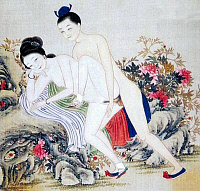 0616197 &copy; Granger - Historical Picture ArchiveCHINA.   <i>chun hua</i> erotic 'Spring Picture', Qing Dynasty, 19th century, artist unknown. Full credit: Pictures from History / Granger, NYC -- All rights reserved.