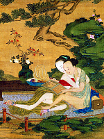 0616904 &copy; Granger - Historical Picture ArchiveCHINA.   <i>chun hua</i> erotic 'Spring Picture' to illustrate a scene from the Ming Dynasty (1368-1644) erotic classic Jin Ping Mei or 'The Golden Lotus' (detail), mid-Qing Dynasty. Full credit: Pictures from History / Granger, NYC -- All rights reserved.