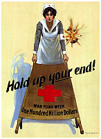 0617719 © Granger - Historical Picture ArchiveUSA.   'Hold up your end! War Fund Week One Hundred Million Dollars'. First World War propaganda poster, New York, c. 1918. Full credit: Pictures from History / Granger, NYC -- All rights reserved.