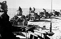 0620650 © Granger - Historical Picture ArchiveISRAEL / PALESTINE.   A force of Israeli Palmach armoured cars in the Negev Desert, Arab-Israeli War, 1948. Full Credit: CPA Media - Pictures from History / Granger, NYC.