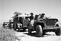 0620659 © Granger - Historical Picture ArchiveISRAEL / PALESTINE.   A force of Israeli Palmach armoured cars in the Negev Desert, Arab-Israeli War, 1948. Full Credit: CPA Media - Pictures from History / Granger, NYC.