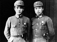 0620697 © Granger - Historical Picture ArchiveCHINA.   New Fourth Army commissar Hu Jinkui (left) and Eighth Route Army commissar Long Feihu at Shangrao, Jiangxi Province, June 1938. Full Credit: CPA Media - Pictures from History / Granger, NYC.
