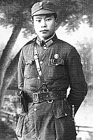 0620723 © Granger - Historical Picture ArchiveCHINA.   Commissar Long Feihu (1915-1999), commander in the communist Eighth Route Army and adjutant to Zhou Enlai, Yanan, 1936. Full Credit: CPA Media - Pictures from History / Granger, NYC.