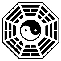 0620788 © Granger - Historical Picture ArchiveCHINA.   'Bagua' eight trigram diagram surrounding central yin-yang symbol. Full Credit: CPA Media - Pictures from History / Granger, NYC.