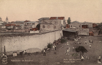 0324314 © Granger - Historical Picture ArchivePANAMA: PRISON.   A prison yard in Panama. Postcard, late 19th or early 20th century.