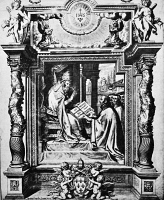 0078856 © Granger - Historical Picture ArchiveSOCIETY OF JESUS, 1540.   Pope Paul III approving the foundation of the Society of Jesus by St. Ignatius of Loyola on 27 September 1540. Contemporary Italian engraving.