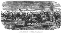 0066014 © Granger - Historical Picture ArchivePARTHIAN CAVALRY.   Wood engraving, 19th century.