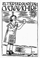 0062029 © Granger - Historical Picture ArchiveINCA SUN WORSHIP.   An Inca captain offers a libation to the sun, then drinks the offering himself in the belief that he is an incarnation of the sun god. Pen and ink drawing from 'El primer nueva cronica y buen gobierno,' 1583-1615, by Felipe Guaman Poma de Ayala.