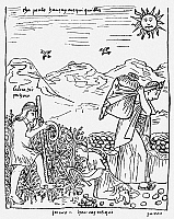 0118458 © Granger - Historical Picture ArchivePERU: HARVESTING POTATOES.   Native Peruvians harvesting potatoes. Drawing from 'El primer nueva cronica y buen gobierno [The first new chronicle and good government], 1583-1615, by Felipe Guaman de Ayala.