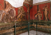 0024247 © Granger - Historical Picture ArchivePOMPEII, ITALY.   Villa of Mysteries: Flagellation fresco.