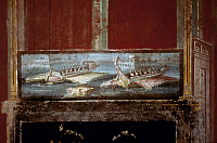 0054725 © Granger - Historical Picture ArchiveROMAN WARSHIPS.   Fresco from Pompeii.