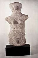 0019280 © Granger - Historical Picture ArchiveNEOLITHIC FIGURE.   Neolithic grey limestone female figure from Karpathos, Dodecanese Islands, c3,500 B.C.