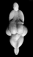 0167649 © Granger - Historical Picture ArchiveVENUS OF LESPUGUE.   20th-century replica of the Venus of Lespugue, a Paleolithic ivory Venus figure from Lespugue, France, c25,000 B.C.