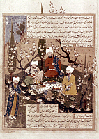 0019411 © Granger - Historical Picture ArchivePERSIAN MINIATURE, 1573.   Firdawsi and the court poets.