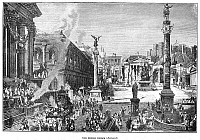 0001326 © Granger - Historical Picture ArchiveROMAN FORUM.   The Forum in Rome as it appeared at the height of the Roman Empire. Wood engraving, 19th century.