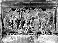 0014818 © Granger - Historical Picture ArchiveROME: ARCH OF TITUS.   Relief on the Arch of Titus depicting Roman soldiers bearing away the plundered treasures of the Temple of Jerusalem during the Siege of Jerusalem, 70 A.D.