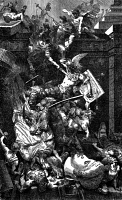 0016983 © Granger - Historical Picture ArchiveVANDALS SACK ROME, 455 A.D.   The sack of Rome under Genseric, king of the Vandals, in 455 A.D. Wood engraving, American, 19th century.