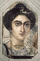 0032528 © Granger - Historical Picture ArchiveROME: ROMAN WOMAN, c325.   Roman wall painting, c325 A.D., from Fayum Egypt.