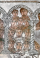 0035318 © Granger - Historical Picture ArchiveROMAN MOSAIC: CIRCUS.   Roman mosaic of spectators at a circus. From Gafsa, Tunisia. 5th century A.D.